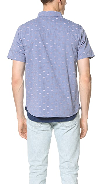 Native Youth Arrowhead Chambray Short Sleeve Shirt