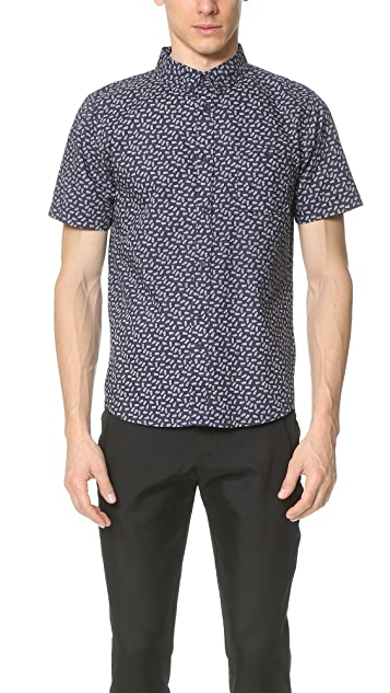 Native Youth Pineapple Print Short Sleeve Shirt
