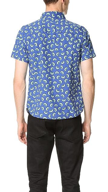Native Youth Kiwi Print Short Sleeve Shirt