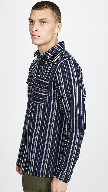 Native Youth Long Sleeve Selwyn Yarn Dyed Striped Shirt