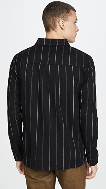 Native Youth Furrow Yarn Dyed Striped Shirt