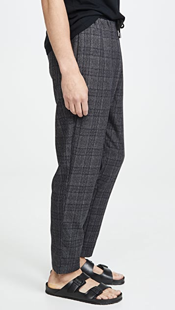Native Youth Umbra Yarn Dyed Check Trousers