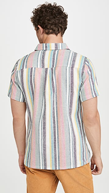 Native Youth Sustainable Stripe Short Sleeve Shirt