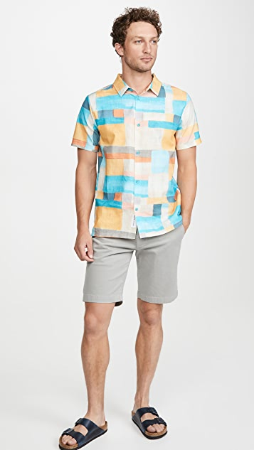 Native Youth Linen Printed Shirt