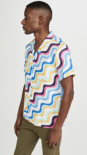 Native Youth Sustainable Printed Revere Collar Shirt