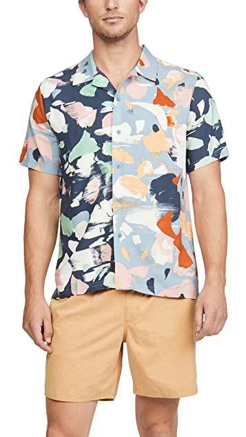 Native Youth Sustainable Mixed Panels Collared Shirt