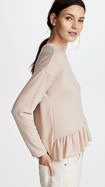 NYTT Camilla Asymmetrical Ruffle Top