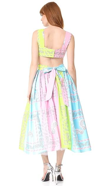 Natasha Zinko Bandana Print Halter Dress