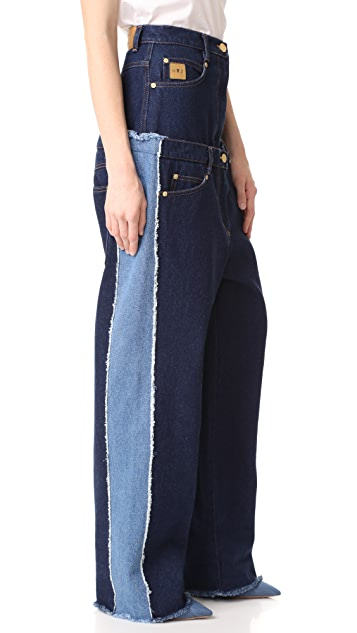 Natasha Zinko High Waist Double Jeans