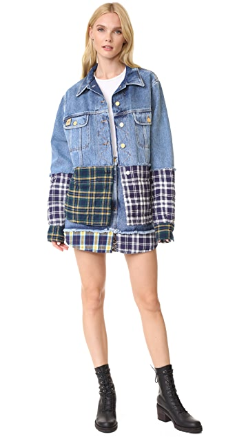 Natasha Zinko Combo Denim Short Jacket