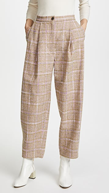 Natasha Zinko Tweed Wide Leg Trousers