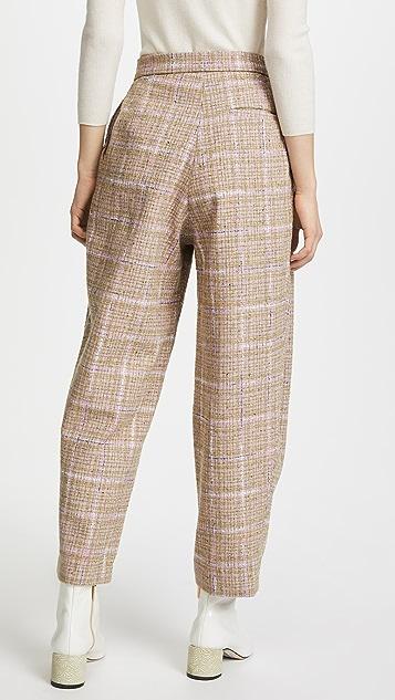 Natasha Zinko Tweed Wide Leg Trousers