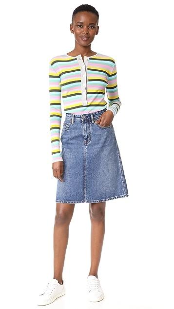 Natasha Zinko Knit Striped Long Sleeve Top