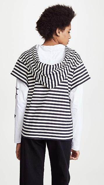 Natasha Zinko Striped Hoodie