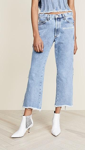 Denim Stonewash Cropped Jeans Natasha Zinko cdy6W9