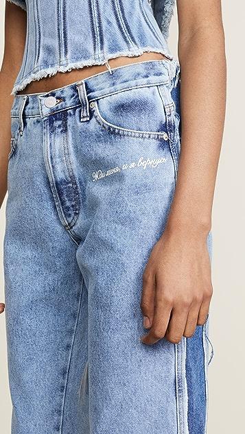 Natasha Zinko Denim Stonewash Cropped Jeans