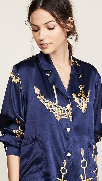 Natasha Zinko Printed Silk Pyjama Top