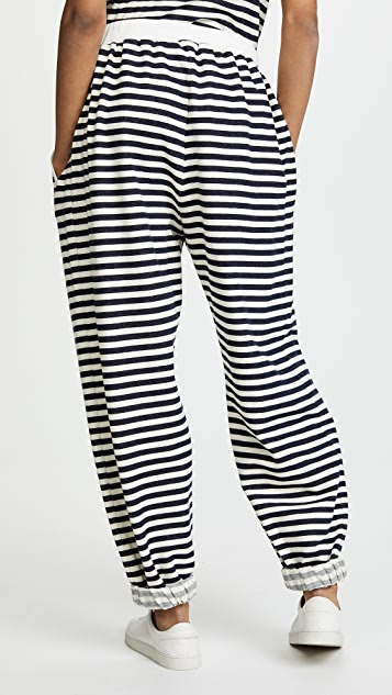 Natasha Zinko Cotton Jersey Jogging Pants with Stripes