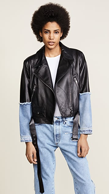 Natasha Zinko Leather & Denim Jacket