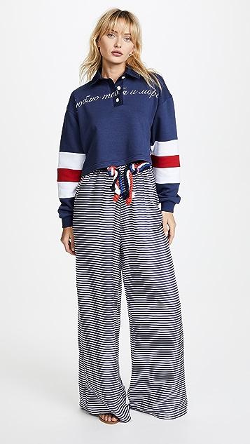 Natasha Zinko Collar Top with Long Sleeves