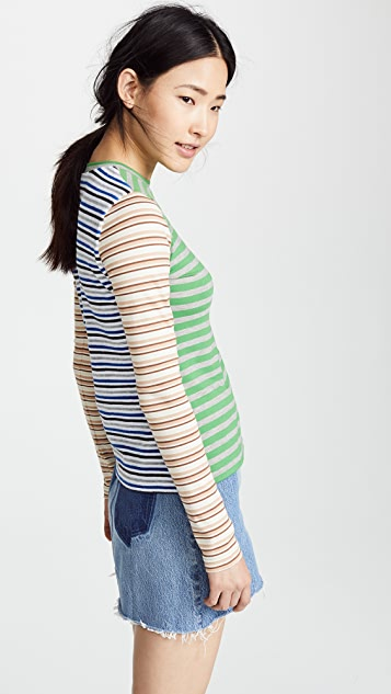 Natasha Zinko Striped Jersey Top