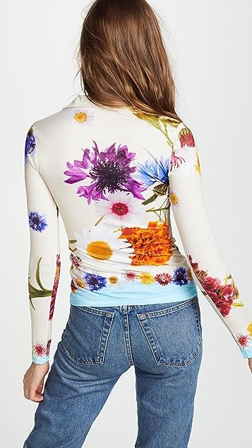 Natasha Zinko Floral Zip Front Top