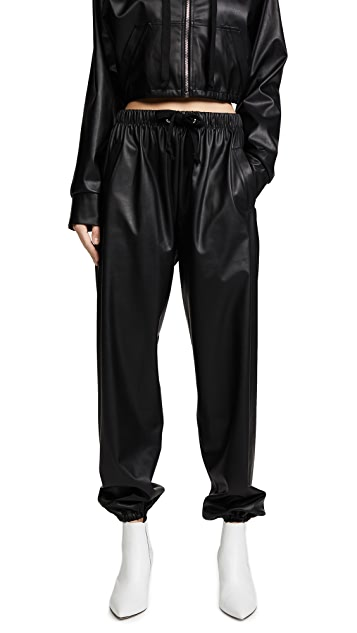 Natasha Zinko Faux Leather Joggers