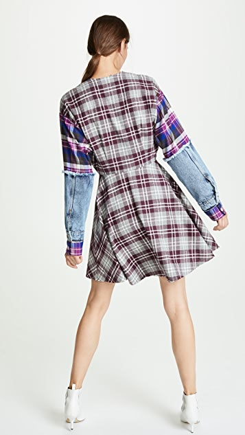 Natasha Zinko Plaid Mini Shirtdress