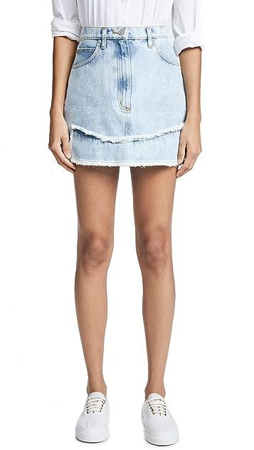Natasha Zinko Denim Printed Miniskirt