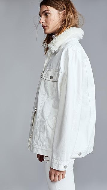 Natasha Zinko Denim Shearling Oversized LS Jacket