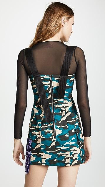 Natasha Zinko Multi Pocket Corset Mini Dress