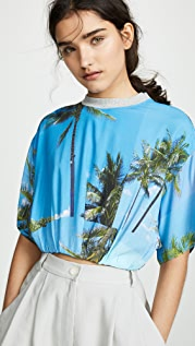 Natasha Zinko 棕榈树印花短款 T 恤