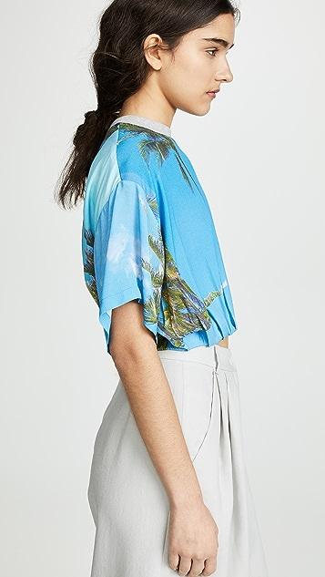 Natasha Zinko Укороченная футболка с принтом в виде пальм
