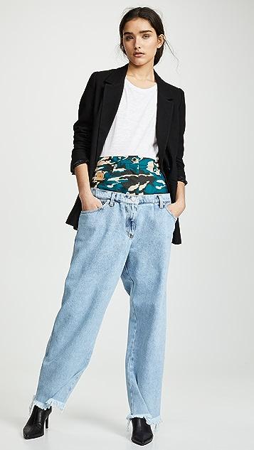 Natasha Zinko Комбинированные джинсы Double