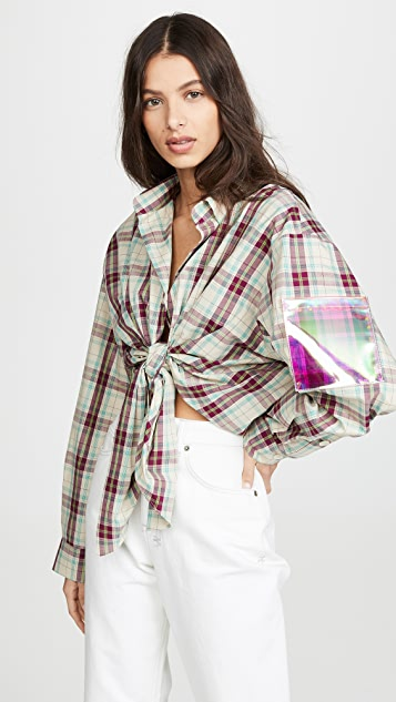 Natasha Zinko Oversized Plaid Shirt