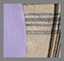 米黄色格子/淡紫色