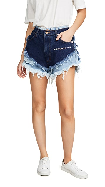 Natasha Zinko Layered Mini Shorts