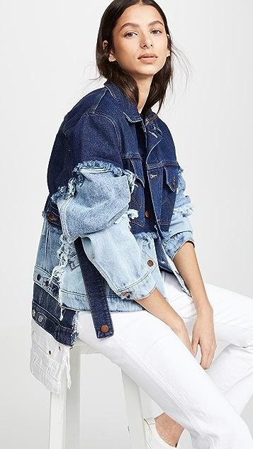 Natasha Zinko Oversized Dip Hem Jacket - Denim