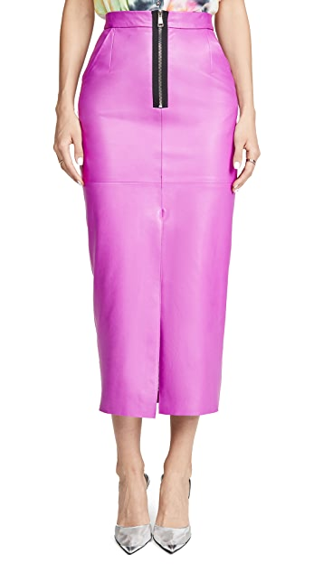 Natasha Zinko Leather Midaxi Skirt