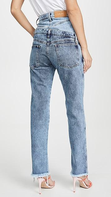 Natasha Zinko Асимметричные джинсы с двойным поясом