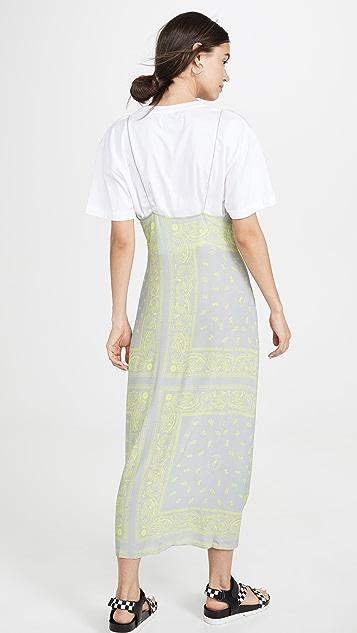 Natasha Zinko T-Shirt Printed Maxi Slip Dress
