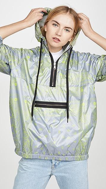 Natasha Zinko Printed Hooded Sport Jacket
