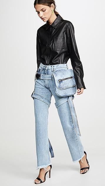 Natasha Zinko 包袋固定带牛仔裤