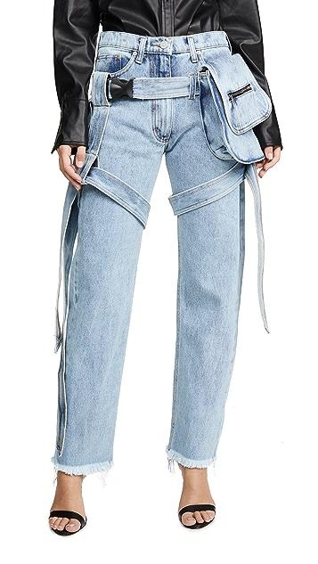 Natasha Zinko Bag Straps Jean Trousers