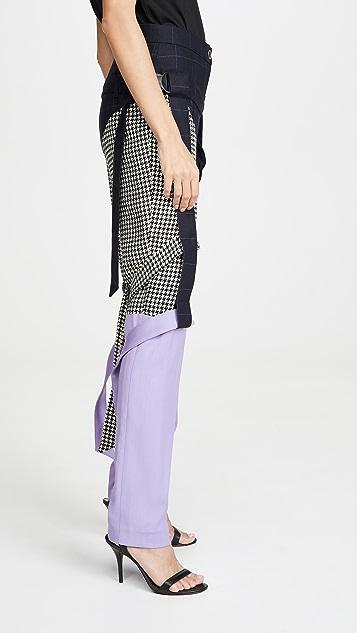 Natasha Zinko 三角形拼接包带裤