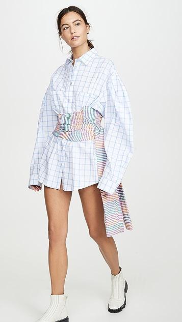 Natasha Zinko 紧身环绕式衬衣连衣裙