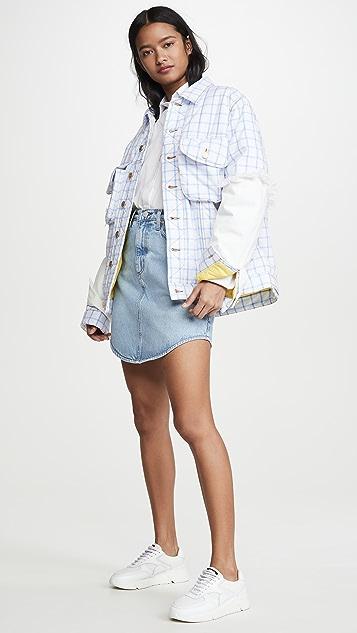 Natasha Zinko 宽大加垫牛仔布系扣衬衣夹克