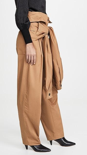 Natasha Zinko 工装绑带衣袖衣领腰部长裤