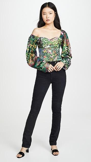 Natasha Zinko 印花灯笼袖上衣