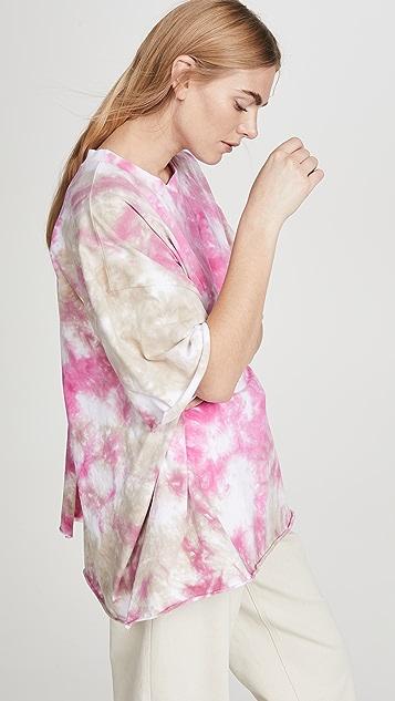 Natasha Zinko Tie Dye Tee with Open Back